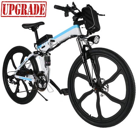 Aceshin 26 inch Electric Bike Folding Electric Mountain Bike