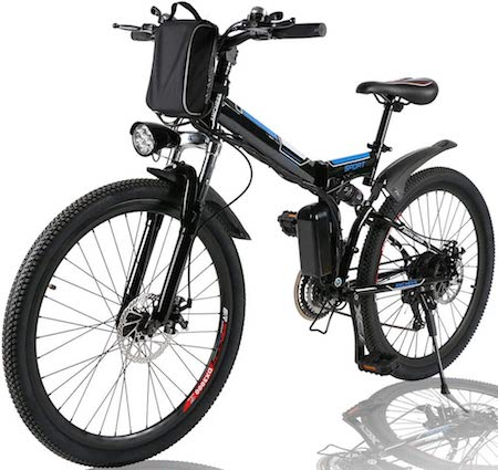 Angotrade 26 inch Electric Bike Folding Mountain E-Bike