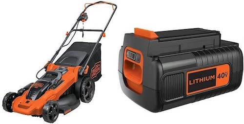 BLACK+DECKER Cordless Mower with Extra Battery