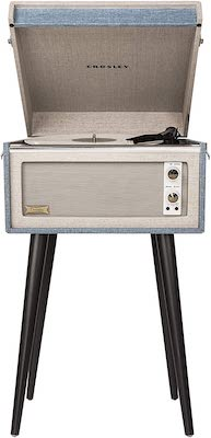 Crosley Dansette Bermuda Portable Turntable with Aux-in and Bluetooth