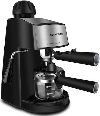 Espresso Machine, SOWTECH 3.5 Bar 4 Cup Espresso Maker Cappuccino Machine with Steamer