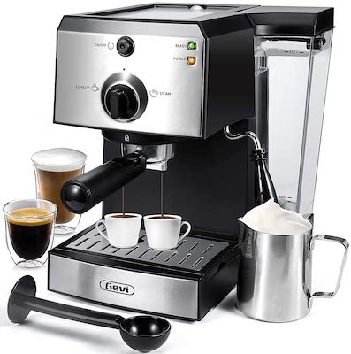 Gevi Espresso Machines 15 Bar Fast Heating Cappuccino Coffee Maker