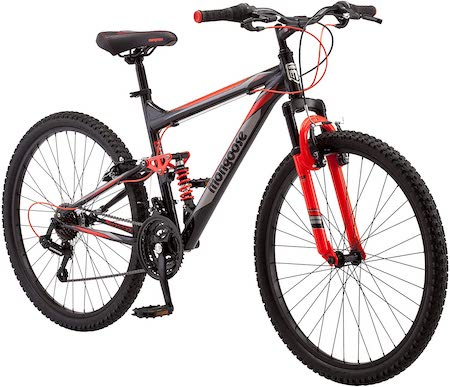 Mongoose Status 2.2 Mens and Womens Mountain Bike, 26-Inch Wheels