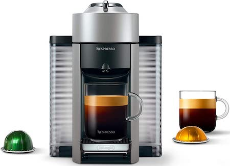 Nespresso Vertuo Evoluo Coffee and Espresso Machine by De'Longhi, Silver