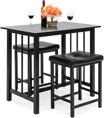 Best Choice Products 3-Piece Counter Height Dining Table Furniture Set for Kitchen