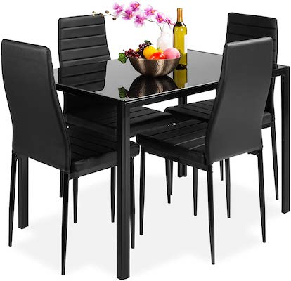 Best Choice Products 5-Piece Kitchen Dining Table Set for Dining Room